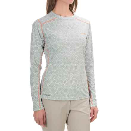 Simms SolarFlex Shirt - UPF 50+, Long Sleeve  (For Women) in Ripple Dots Moonstone - Closeouts