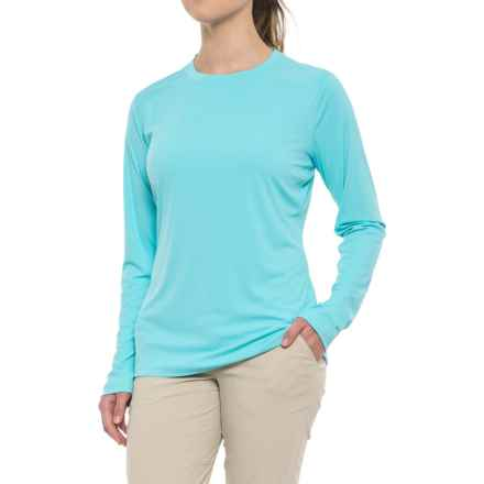 Simms SolarFlex Shirt - UPF 50+, Long Sleeve  (For Women) in Turquoise - Closeouts