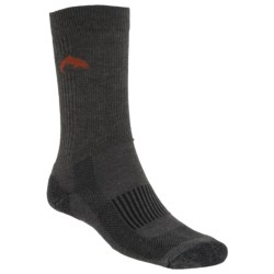 Simms Sport Crew Socks - Merino Wool (For Men and Women) in Charcoal