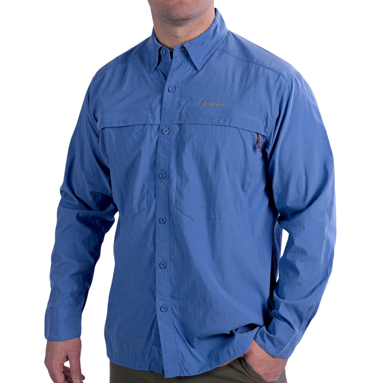 Deals Simms Stone Cold Fishing Shirt Upf 30 Long