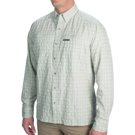 Simms Stone Cold Fishing Shirt - UPF 30+, Long Sleeve (For Men) in Wintergreen Plaid