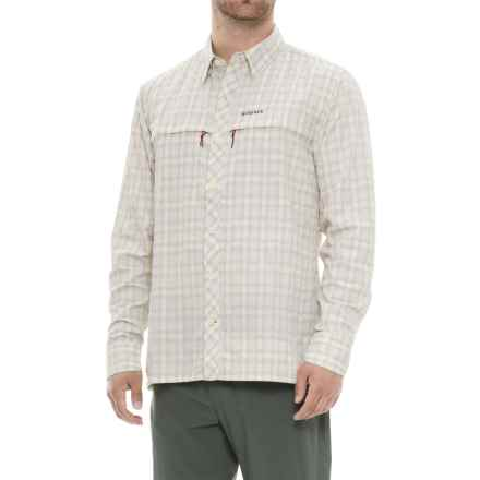 Simms Stone Cold Shirt - UPF 30+, Long Sleeve (For Men) in Birch Plaid - Closeouts