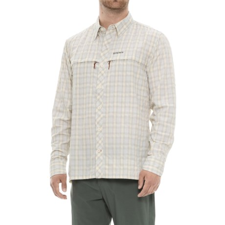 Simms Stone Cold Shirt - UPF 30+, Long Sleeve (For Men) in Birch Plaid