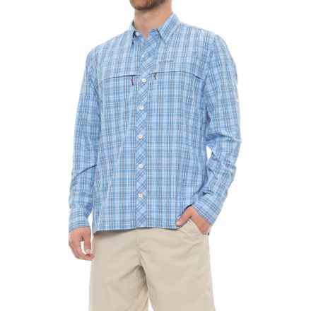 Simms Stone Cold Shirt - UPF 30+, Long Sleeve (For Men) in Harbor Blue Plaid - Closeouts
