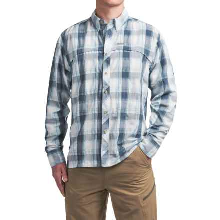 Simms Stone Cold Shirt - UPF 30+, Long Sleeve (For Men) in Mist Plaid - Closeouts