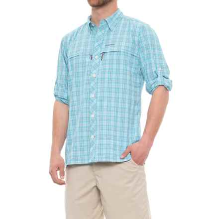 Simms Stone Cold Shirt - UPF 30+, Long Sleeve (For Men) in Teal Plaid - Closeouts