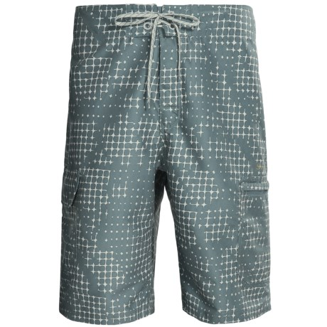 Simms Surf Shorts (For Men) in Blue Cloud Camo