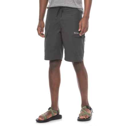 Simms Surf Shorts - UPF 50+ (For Men) in Black - Closeouts