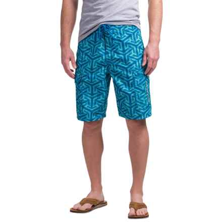 Simms Surf Shorts - UPF 50+ (For Men) in Tri Geo Current - Closeouts