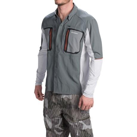 Simms Taimen Tricomp Fishing Shirt For Men Save 46