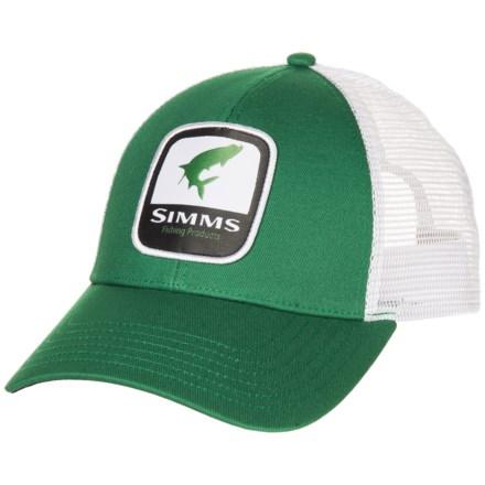 00095f19f4d9fe Simms Tarpon Patch Trucker Hat (For Men) in Kelly Green