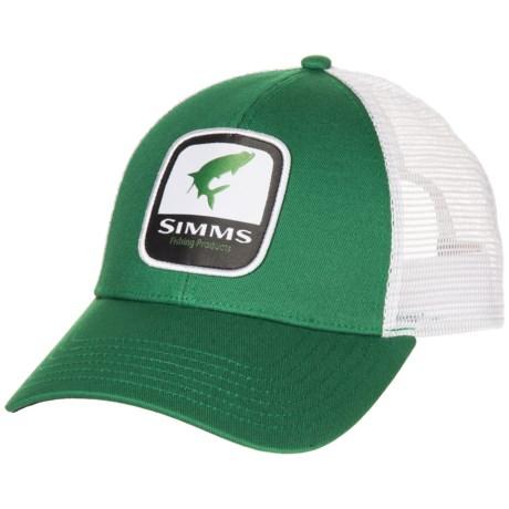 3027c438528d0 Simms Tarpon Patch Trucker Hat (For Men) in Kelly Green