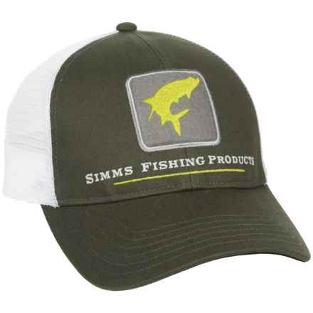 Simms Tarpon Trucker Hat in Dark Olive - Closeouts