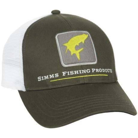 Simms Tarpon Trucker Hat in Dark Olive