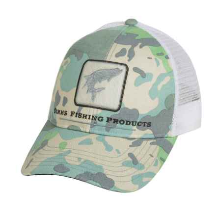 Simms Tarpon Trucker Hat in Flow Camo - Closeouts