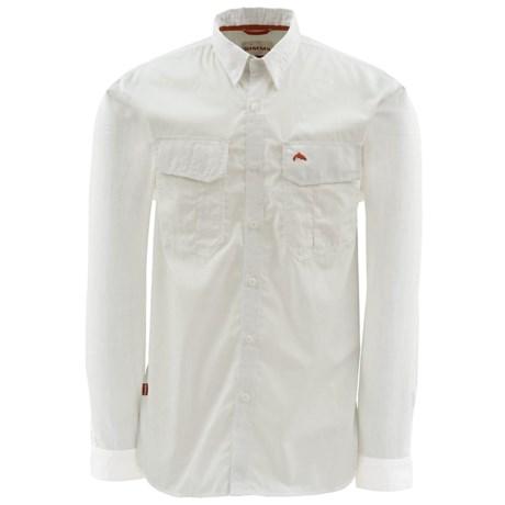 Simms Transit Shirt - Cotton, Long Sleeve (For Men) in White