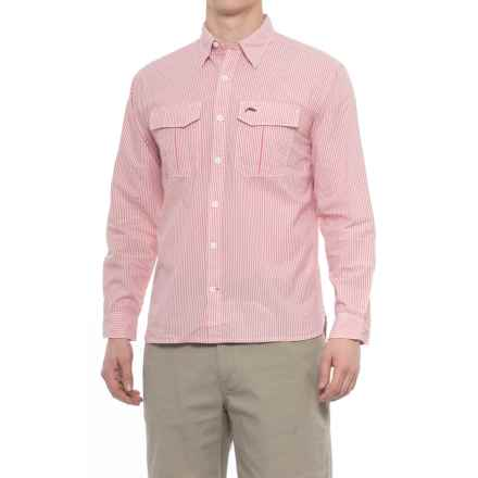 Simms Transit Shirt - Long Sleeve (For Men) in Dark Coral Plaid - Closeouts