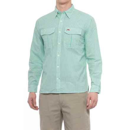 Simms Transit Shirt - Long Sleeve (For Men) in Island Green - Closeouts