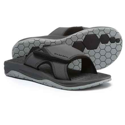 Simms Transit Slide Sandals (For Men) in Anvil - Closeouts