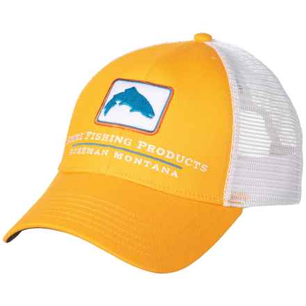 Simms Trout Icon Trucker Hat (For Men and Women) in Straw