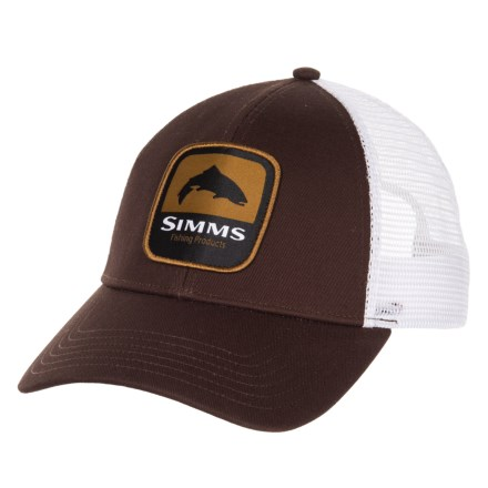 fa800b98543df Simms Trout Patch Trucker Hat (For Men) in Bark