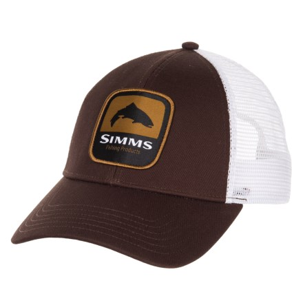7e77fe2606179 Simms Trout Patch Trucker Hat (For Men) in Bark - Closeouts