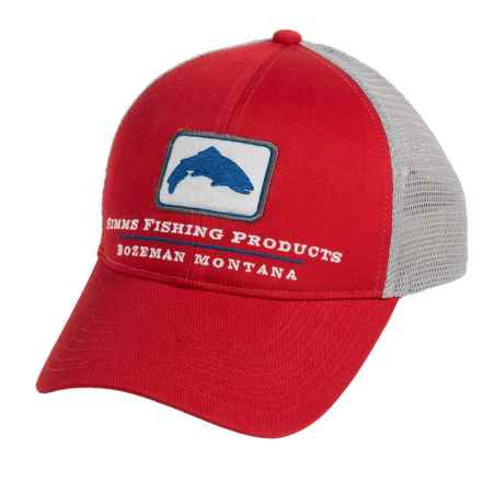 Simms Trout Trucker Cap (For Men and Women) in Scarlet - Closeouts