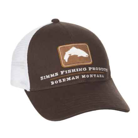 Simms Trout Trucker Hat (For Men and Women) in Bark - Closeouts