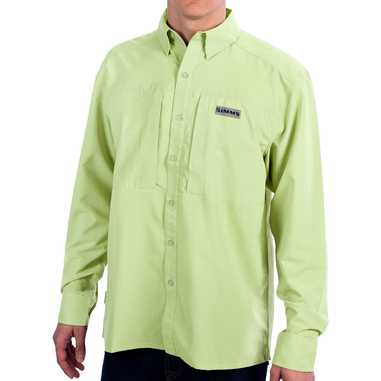 Simms Ultralight Fishing Shirt Upf 30 Long Sleeve For