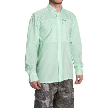 Simms Ultralight Shirt - UPF 30+, Button Front, Long Sleeve (For Men) in Light Teal - Closeouts