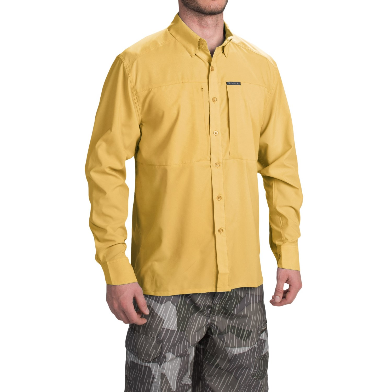 Simms ultralight shirt for men save 59 for Men s upf long sleeve shirt