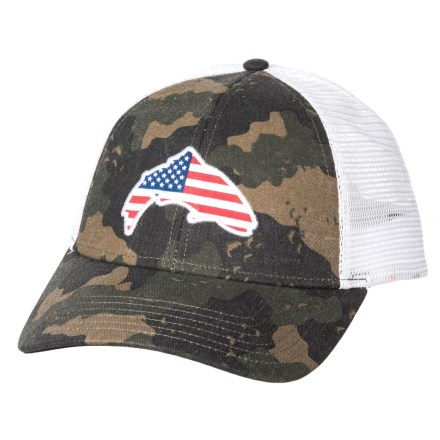7a75828ebc6c6 Simms USA Patch Trucker Hat (For Men and Women) in Simms Camo