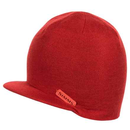 Simms Visor Beanie (For Men and Women) in Scarlet - Closeouts
