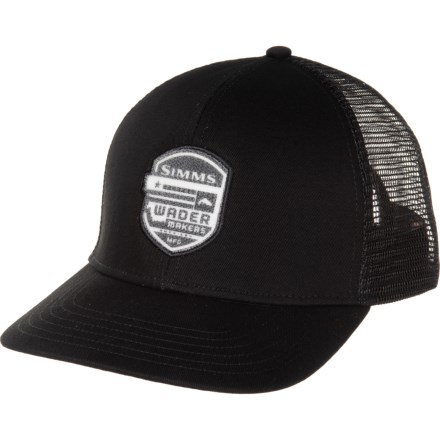 65a7346ed4dee1 Simms Wader Makers Patch Trucker Hat (For Men) in Black