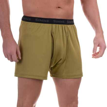 Simms WaderWick Double-Knit Boxers - UPF 30+ (For Men) in Army Green - Closeouts