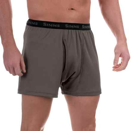 Simms WaderWick Double-Knit Boxers - UPF 30+ (For Men) in Coal - Closeouts