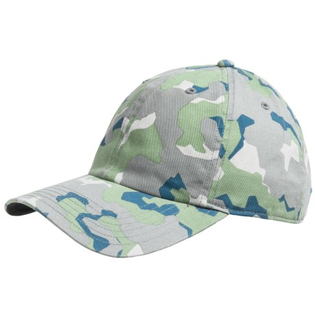 Simms Washed Twill Cap - UPF 50+ (For Men) in Geo Camo