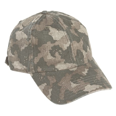 Simms Washed Twill Cap - UPF 50+ (For Men) in Simms Camo