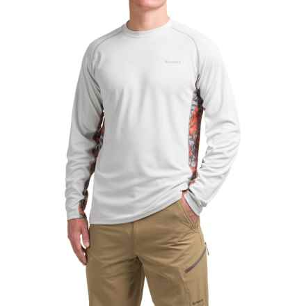 Simms Waypoint Shirt - UPF 50, Long Sleeve (For Men) in Tribal Wave White - Closeouts