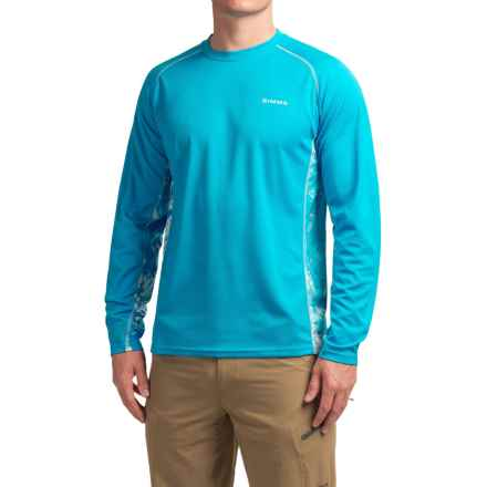 Simms Waypoint Shirt - UPF 50, Long Sleeve (For Men) in Water Splash Capri - Closeouts