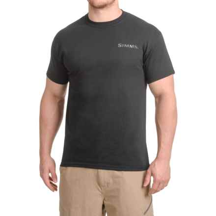 Simms Weapons of Bass Destruction T-Shirt - Short Sleeve (For Men) in Black - Closeouts