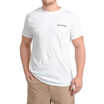 Simms Weapons of Bass Destruction T-Shirt - Short Sleeve (For Men) in White - Closeouts