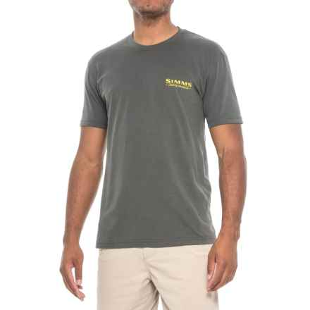 Simms Weekend Trout T-Shirt - Short Sleeve (For Men) in Anvil - Closeouts
