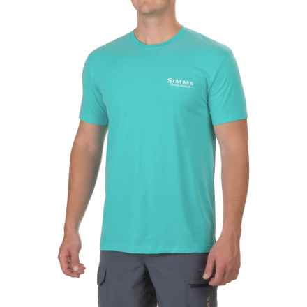 Simms Weekend Tuna T-Shirt - Short Sleeve (For Men) in Cabana Blue - Closeouts