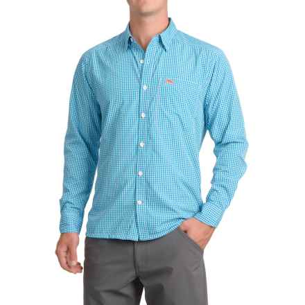 Simms Westshore Shirt - UPF 30+, Long Sleeve (For Men) in Bright Teal Plaid - Closeouts