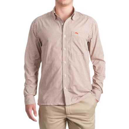 Simms Westshore Shirt - UPF 30+, Long Sleeve (For Men) in Dune Plaid - Closeouts