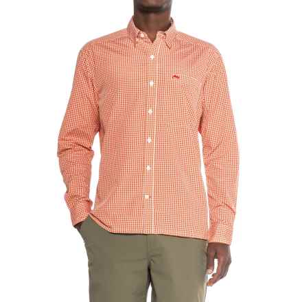 Simms Westshore Shirt - UPF 30+, Long Sleeve (For Men) in Dusty Orange Plaid - Closeouts