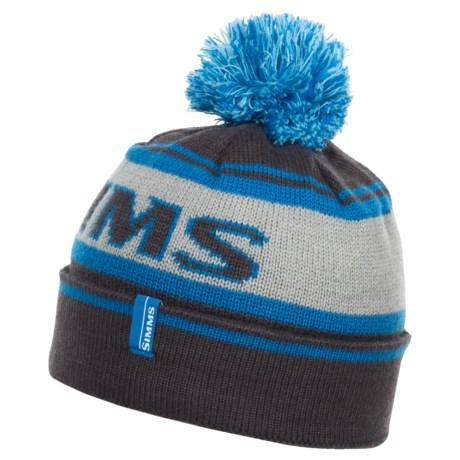 05b15e9022b85 Simms Fishing Wildcard Knit Beanie Hat   Cap w  Pom Tassel - Choose ...