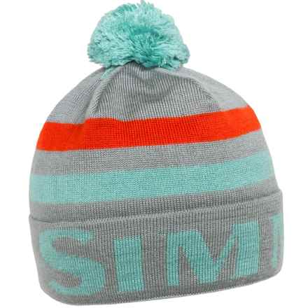 Simms Windstopper® Flap Cap with Pom (For Women) in Storm Cloud - Closeouts