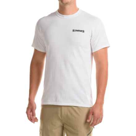 Simms Woodblock Tarpon T-Shirt - Short Sleeve (For Men) in White - Closeouts